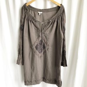 Joie grey embroidered tunic